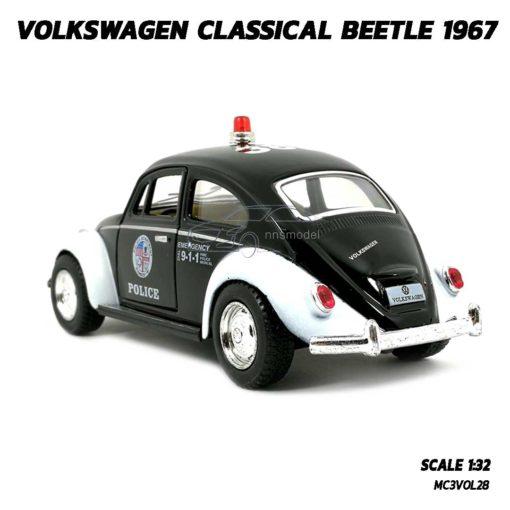 โมเดลรถตำรวจ รถเต่า Volkswagen Beetle 1967 (Scale 1:32) รถเหล็กโมเดล จำลองเหมือนจริง
