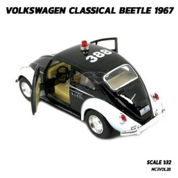 โมเดลรถตำรวจ รถเต่า Volkswagen Beetle 1967 (Scale 1:32) รถเหล็กโมเดล พร้อมตั้งโชว์