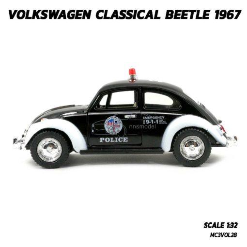 โมเดลรถตำรวจ รถเต่า Volkswagen Beetle 1967 (Scale 1:32) โมเดลรถของเล่น พร้อมตั้งโชว์