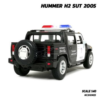 โมเดลรถตำรวจ HUMMER H2 SUT 2005 (Scale 1:40) โมเดลรถเหล็กเหมือนจริง