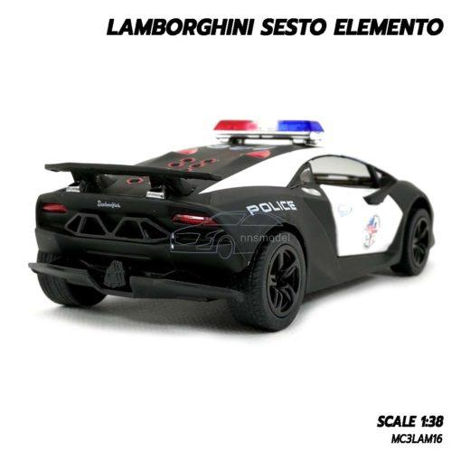 โมเดลรถตำรวจ LAMBORGHINI SESTO ELEMENTO โมเดลรถเหล็ก ประกอบสำเร็จ