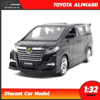 โมเดลรถตู้ โตโยต้า Toyota Alphard (Scale 1:32) สีดำ โมเดลรถมีเสียงมีไฟ