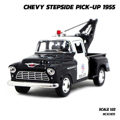 โมเดลรถยก ตำรวจ CHEVY STEPSIDE PICKUP 1955 (Scale 1:32)