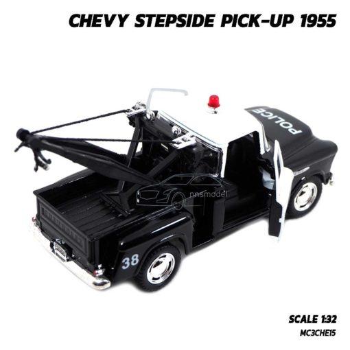 โมเดลรถยก ตำรวจ CHEVY STEPSIDE PICKUP 1955 (Scale 1:32) โมเดลรถเหล็ก เปิดประตูรถซ้ายขวาได้