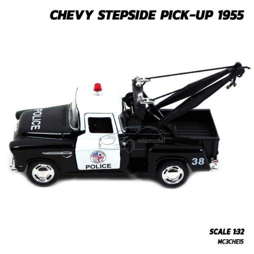 โมเดลรถยก ตำรวจ CHEVY STEPSIDE PICKUP 1955 (Scale 1:32) โมเดลรถเหล็ก พร้อมตั้งโชว์