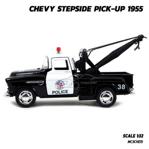โมเดลรถยก ตำรวจ CHEVY STEPSIDE PICKUP 1955 (Scale 1:32) โมเดลรถเหล็ก มีลานวิ่งได้