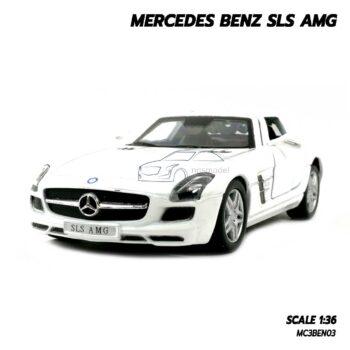 โมเดลรถเบนซ์ Mercedes Benz SLS AMG สีขาว (Scale 1:36)