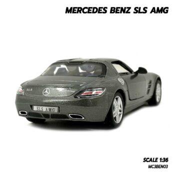 โมเดลรถเบนซ์ Mercedes Benz SLS AMG สีเทา (Scale 1:36) โมเดลรถสะสม Kinsmart