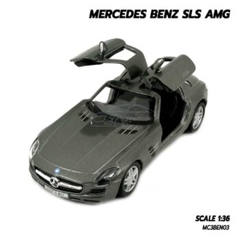 โมเดลรถเบนซ์ Mercedes Benz SLS AMG สีเทา (Scale 1:36) โมเดลรถ ของขวัญ ของสะสม