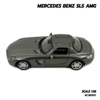 โมเดลรถเบนซ์ Mercedes Benz SLS AMG สีเทา (Scale 1:36) โมเดลรถ มีลานวิ่งได้