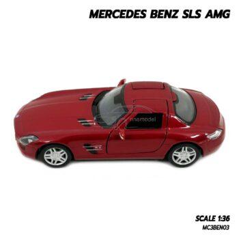โมเดลรถเบนซ์ Mercedes Benz SLS AMG สีแดง (Scale 1:36) โมเดลรถเหล็ก พร้อมตั้งโชว์