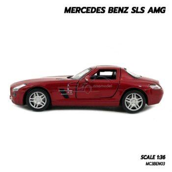 โมเดลรถเบนซ์ Mercedes Benz SLS AMG สีแดง (Scale 1:36) โมเดลรถสะสม