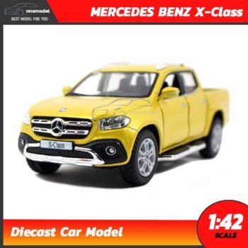 โมเดลรถเบนซ์ Mercedes Benz X-Class รถกระบะ (Scale 1:42) สีเหลืองทอง