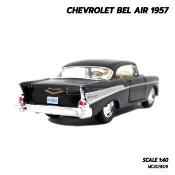 โมเดลรถเหล็ก CHEVROLET BEL AIR 1957 สีดำ โมเดลคลาสสิค สวยงามน่าสะสม