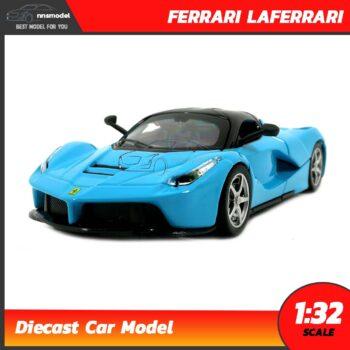 โมเดลรถเหล็ก FERRARI LAFERRARI สีฟ้า (Scale 1:32)