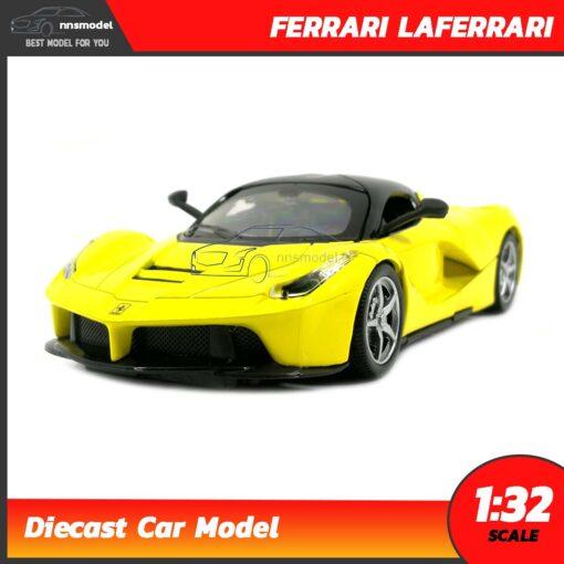 โมเดลรถ เฟอร์รารี่ Laferrari สีเหลือง (Scale 1:32)
