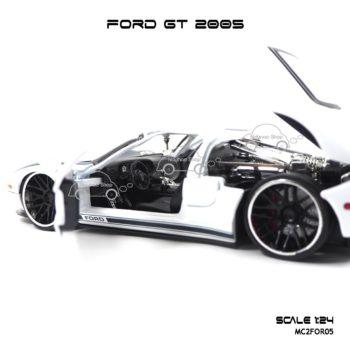 โมเดลรถเหล็ก FORD GT 2005 (1:24) ภายในรถ เหมือนจริง