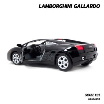 โมเดลรถเหล็ก LAMBORGHINI GALLARDO สีดำ (1:32) ภายในรถจำลองเหมือนจริง