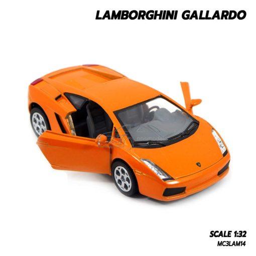 โมเดลรถเหล็ก LAMBORGHINI GALLARDO สีส้ม (1:32) lamborghini models open doors