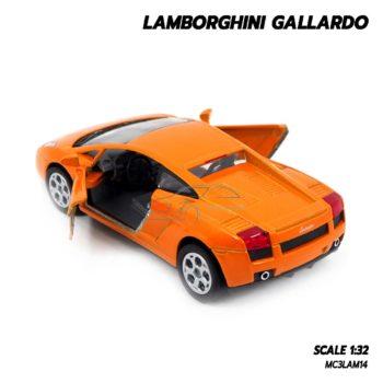 โมเดลรถเหล็ก LAMBORGHINI GALLARDO สีส้ม (1:32) lamborghini models open the doors
