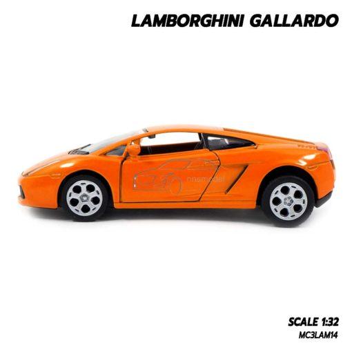 โมเดลรถเหล็ก LAMBORGHINI GALLARDO สีส้ม (1:32) lamborghini models made from diecast
