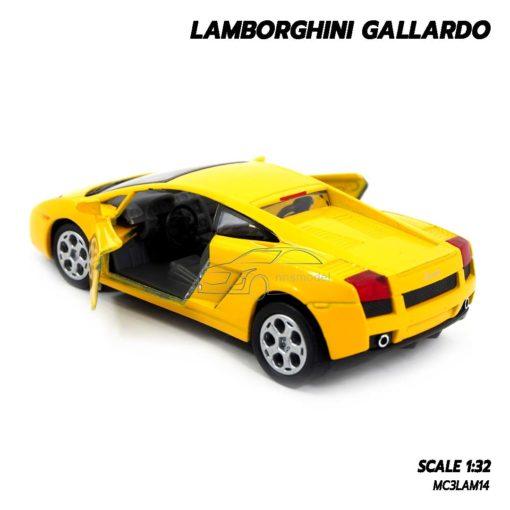 โมเดลรถเหล็ก LAMBORGHINI GALLARDO สีเหลือง (1:32) โมเดลประกอบสำเร็จ เปิดประตูรถได้