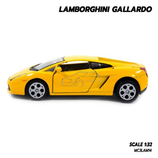 โมเดลรถเหล็ก LAMBORGHINI GALLARDO สีเหลือง (1:32) รถเหล็กเหมือนจริง