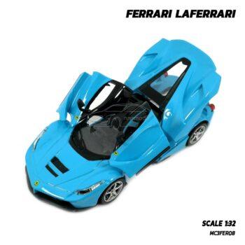โมเดลรถ Ferrari Laferrari สีฟ้า (Scale 1:32) โมเดลรถสปอร์ต เปิดได้ครบ
