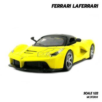 โมเดลรถ เฟอร์รารี่ Ferrari Laferrari สีเหลือง (Scale 1:32) โมเดลรถสปอร์ต รุ่นขายดี