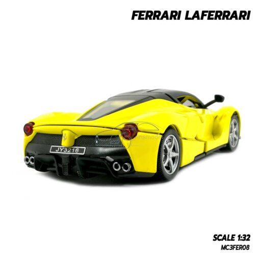 โมเดลรถ เฟอร์รารี่ Ferrari Laferrari สีเหลือง (Scale 1:32) โมเดลรถสปอร์ต พร้อมตั้งโชว์