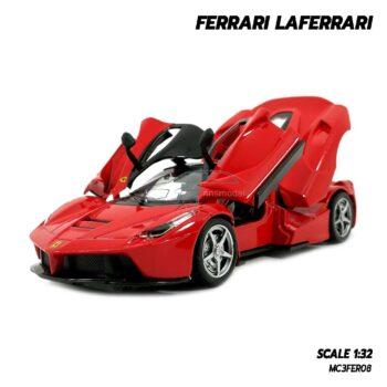 โมเดลรถ เฟอร์รารี่ FERRARI LAFERRARI สีแดง (Scale 1:32) โมเดลรถเหล็ก ลาเฟอร์รารี่ เปิดประตูปีกนกได้
