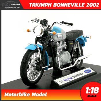 โมเดลรถ ไทรอั้ม TRIUMPH BONNEVILLE 2002 (1:18)