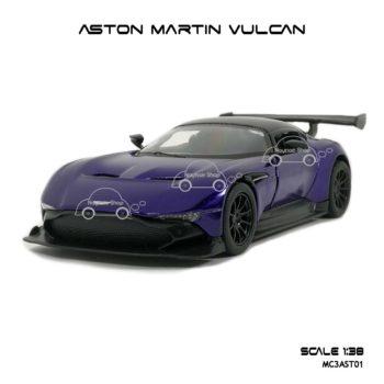 โมเดลรถเหล็ก ASTON MARTIN VULCAN สีม่วง (1:38)