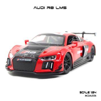 โมเดลรถ AUDI R8 LMS สีแดง (1:24) โมเดลรถ ราคาถูก