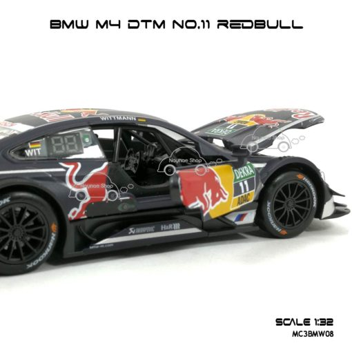 โมเดลรถ BMW M4 DTM No.11 RedBull (1:32) ภายในรถเหมือนจริง