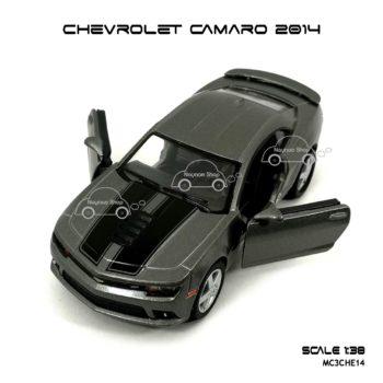 โมเดลรถ CHEVROLET CAMARO 2014 สีเทา (1:38) เปิดประตูได้
