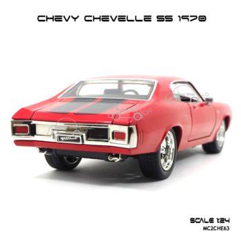 โมเดลรถ CHEVY CHEVELLE SS 1970 สีแดง (1:24) Jada Toy