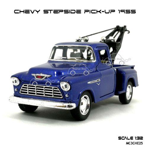โมเดลรถยก CHEVY STEPSIDE PICK UP 1955 สีน้ำเงิน (1:32)