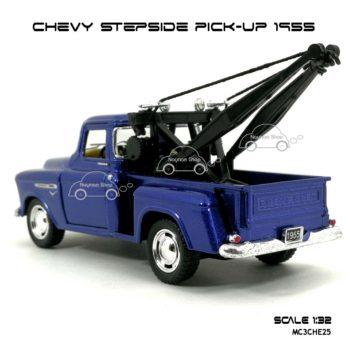 โมเดลรถยก CHEVY STEPSIDE PICK UP 1955 สีน้ำเงิน (1:32) สวยๆ