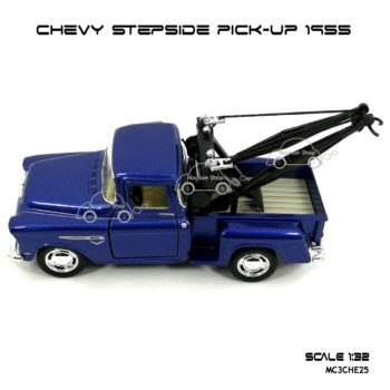 โมเดลรถยก CHEVY STEPSIDE PICK UP 1955 สีน้ำเงิน (1:32) โมเดล ประกอบสำเร็จ