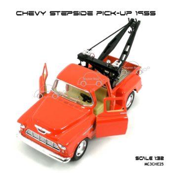โมเดลรถยก CHEVY STEPSIDE PICK UP 1955 สีส้ม (1:32) เปิดประตูซ้ายขวาได้