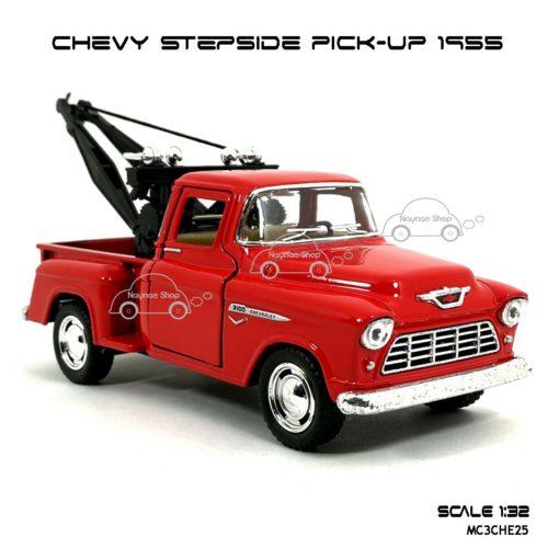โมเดลรถยก CHEVY STEPSIDE PICK UP 1955 สีแดง (1:32) โมเดลสำเร็จ