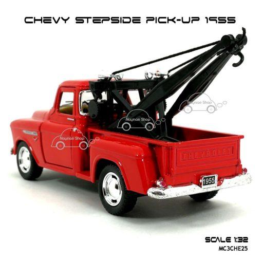 โมเดลรถยก CHEVY STEPSIDE PICK UP 1955 สีแดง (1:32) มีลานดึงปล่อยรถวิ่งได้