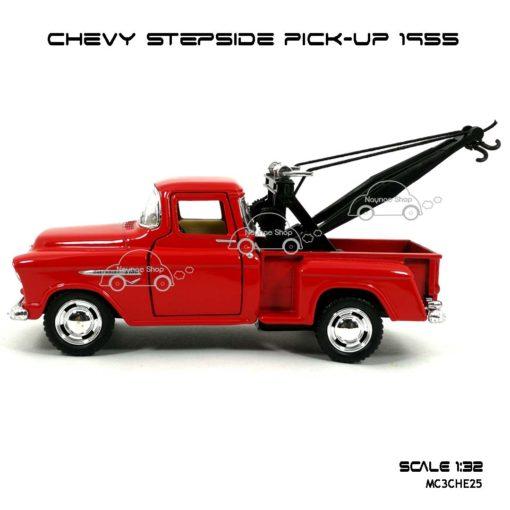 โมเดลรถยก CHEVY STEPSIDE PICK UP 1955 สีแดง (1:32) โมเดลรุ่นสวยๆ