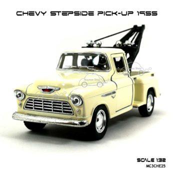 โมเดลรถยก CHEVY STEPSIDE PICK UP 1955 สีขาวครีม (1:32) โมเดลรุ่นสวยๆ