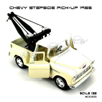 โมเดลรถยก CHEVY STEPSIDE PICK UP 1955 สีขาวครีม (1:32) รุ่นขายดี