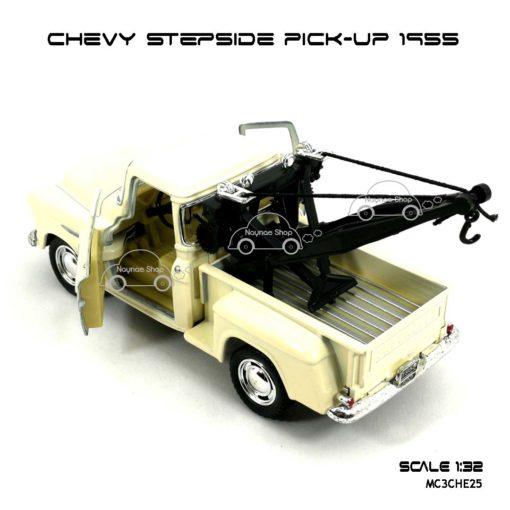 โมเดลรถยก CHEVY STEPSIDE PICK UP 1955 สีขาวครีม (1:32) โมเดลรถ ราคาถูก