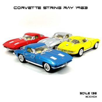 โมเดลรถ CORVETTโมเดลรถ CORVETTE STRING RAY 1963 สีเหลือง (1:36) รถเหล็กสวยๆโมเดลรถ CORVETTE STRING RAY 1963 (1:36)