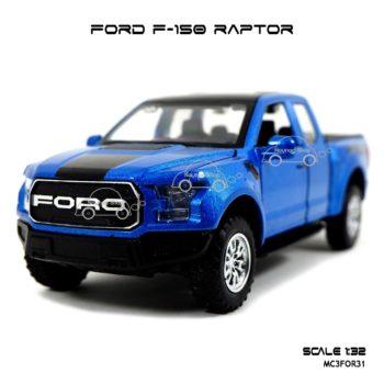 โมเดลรถ FORD F-150 RAPTOR สีน้ำเงิน (1:32) รถโมเดลเหมือนจริง