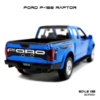 โมเดลรถ FORD F-150 RAPTOR สีน้ำเงิน (1:32) รถเหล็กรุ่นขายดี